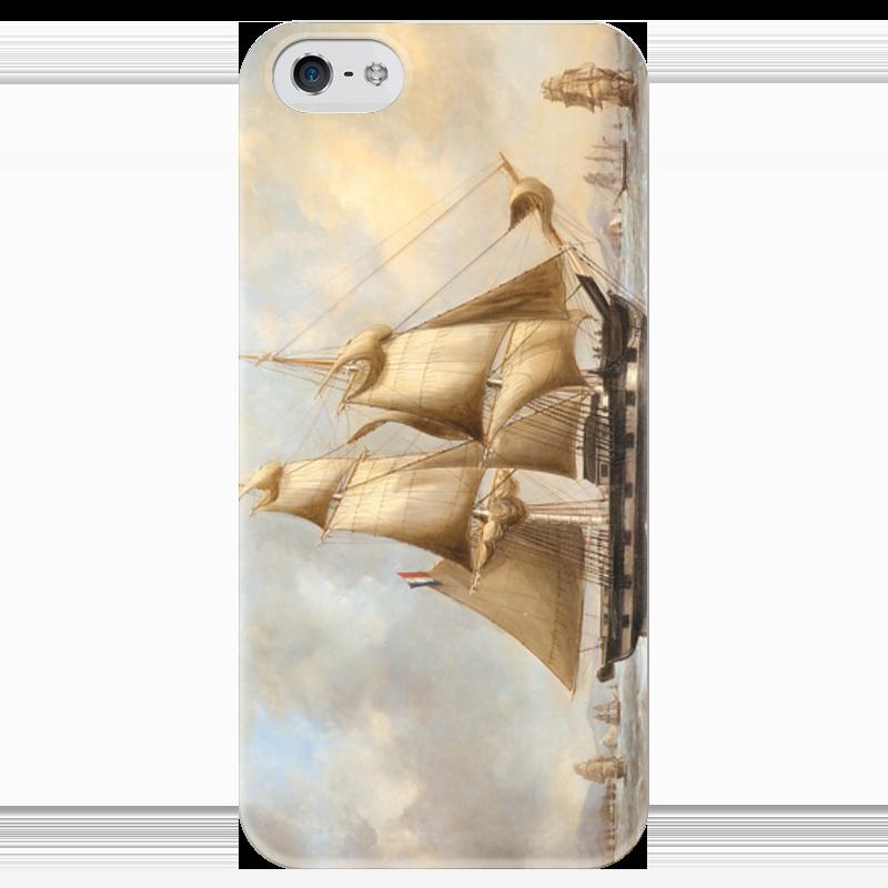 Чехол для iPhone 5 глянцевый, с полной запечаткой Printio Корабль чехол для iphone 5 глянцевый с полной запечаткой printio цикличность
