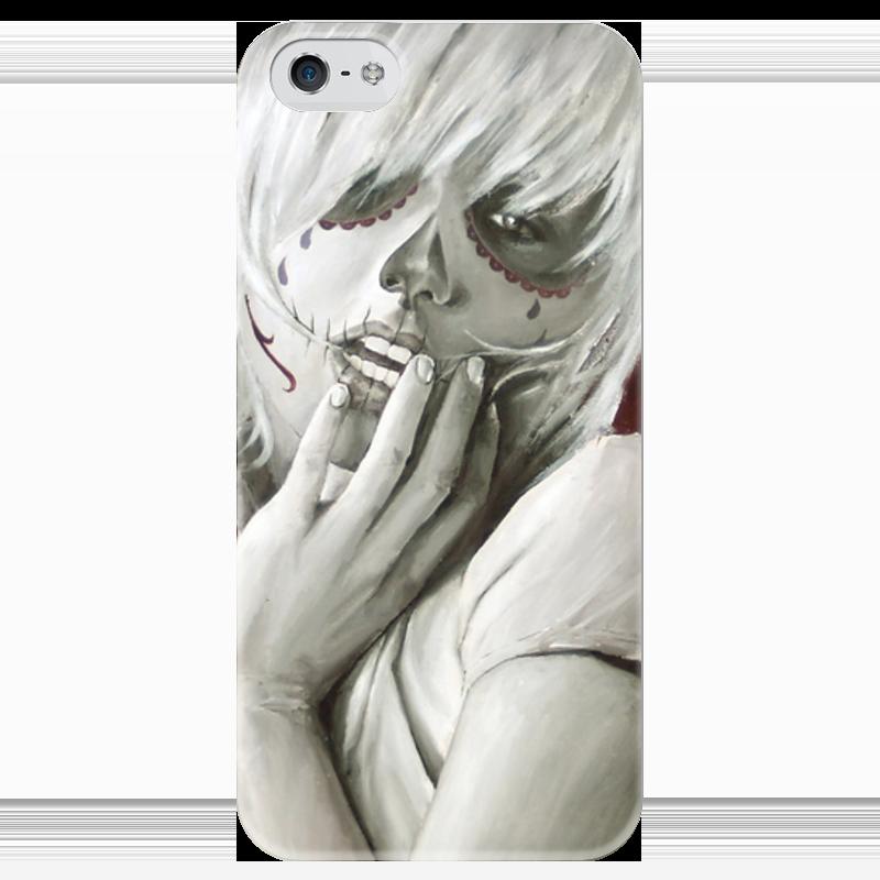 Чехол для iPhone 5 глянцевый, с полной запечаткой Printio Skull girl чехол для iphone 4 глянцевый с полной запечаткой printio skull girl