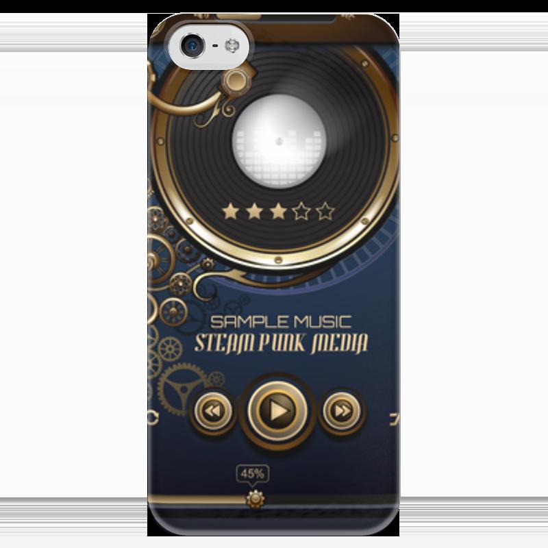 Чехол для iPhone 5 глянцевый, с полной запечаткой Printio Стимпанк-музыка