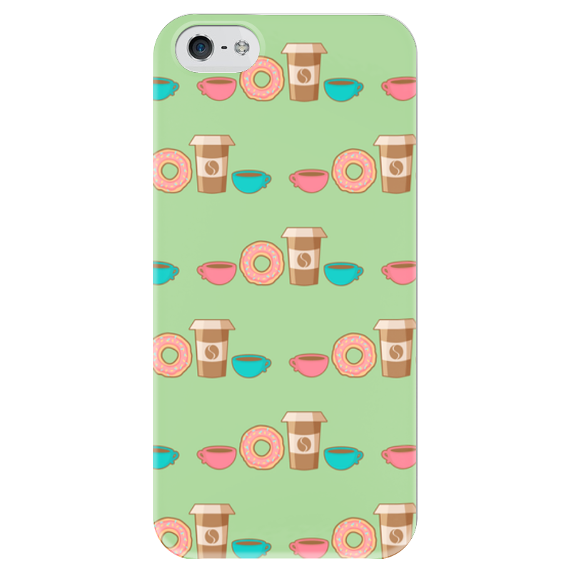 Чехол для iPhone 5 глянцевый, с полной запечаткой Printio Кофемания футболка рингер printio кофемания