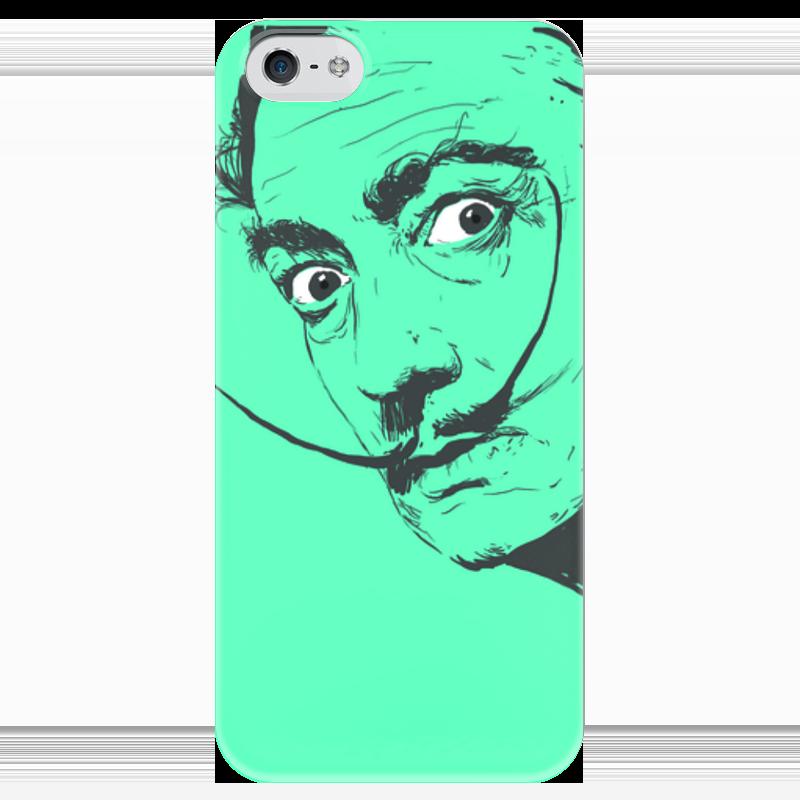 Чехол для iPhone 5 глянцевый, с полной запечаткой Printio Сальвадор дали купить чехол на айфон 5 s disney
