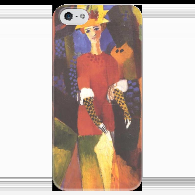 Чехол для iPhone 5 глянцевый, с полной запечаткой Printio Женщина в парке (август маке) чехол для iphone 4 глянцевый с полной запечаткой printio шляпный магазин август маке