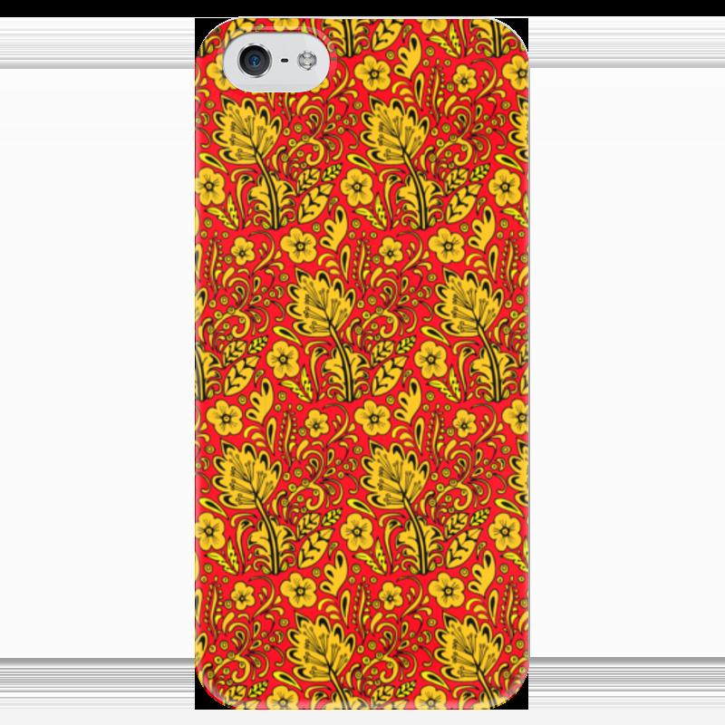 Чехол для iPhone 5 глянцевый, с полной запечаткой Printio Хохлома чехол для iphone 5 глянцевый с полной запечаткой printio эфиопка