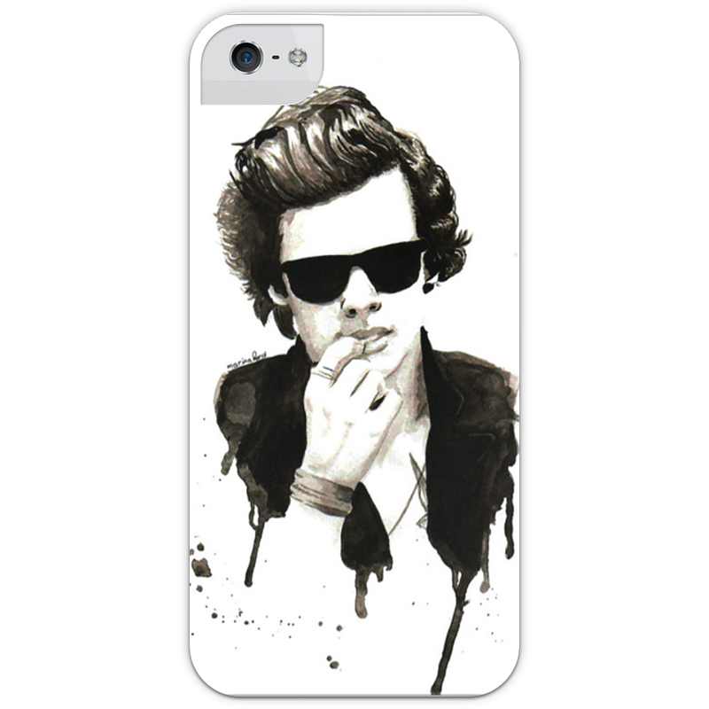 Чехол для iPhone 5 глянцевый, с полной запечаткой Printio Harry styles (one direction) harry styles one direction 8x10 music photo signed in person