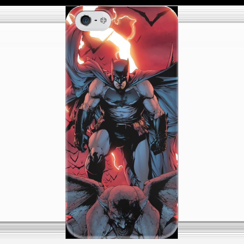 Чехол для iPhone 5 глянцевый, с полной запечаткой Printio Бэтмен чехол для iphone 5 глянцевый с полной запечаткой printio анютины глазки