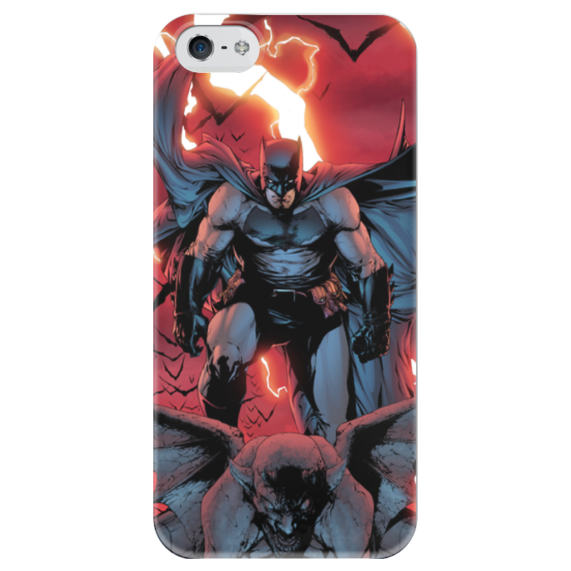 Чехол для iPhone 5 глянцевый, с полной запечаткой Printio Бэтмен чехол для iphone 5 глянцевый с полной запечаткой printio куртизанка courtesan after eisen