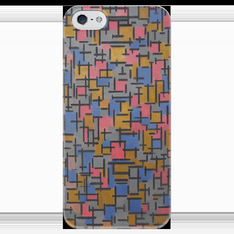 Чехол для iPhone 5 глянцевый, с полной запечаткой Printio Композиция (питер мондриан) чехол для карточек пит мондриан дк2017 110