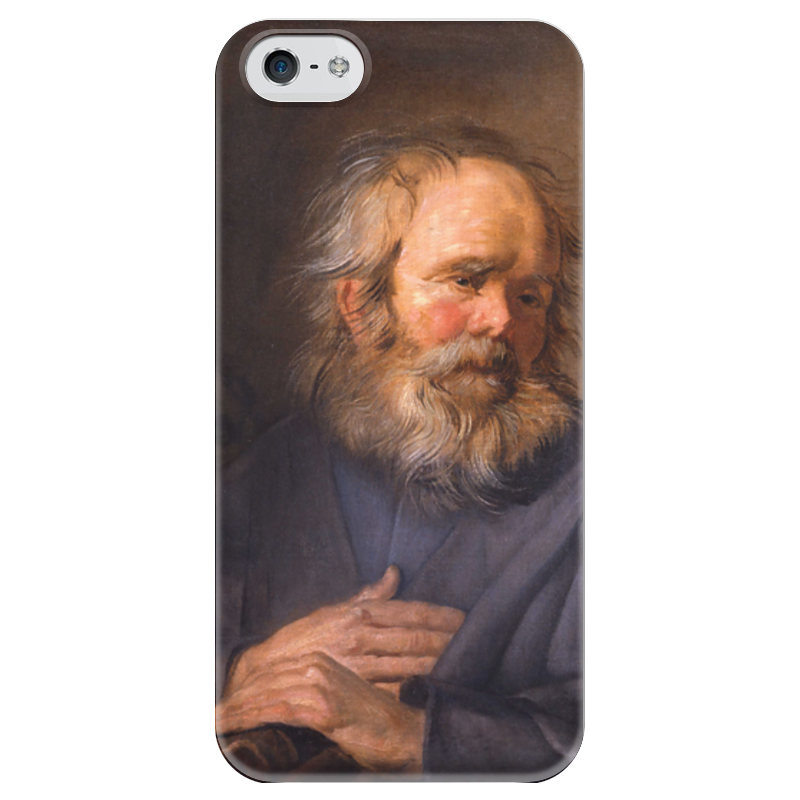 Чехол для iPhone 5 глянцевый, с полной запечаткой Printio Святой марк (картина хальса)