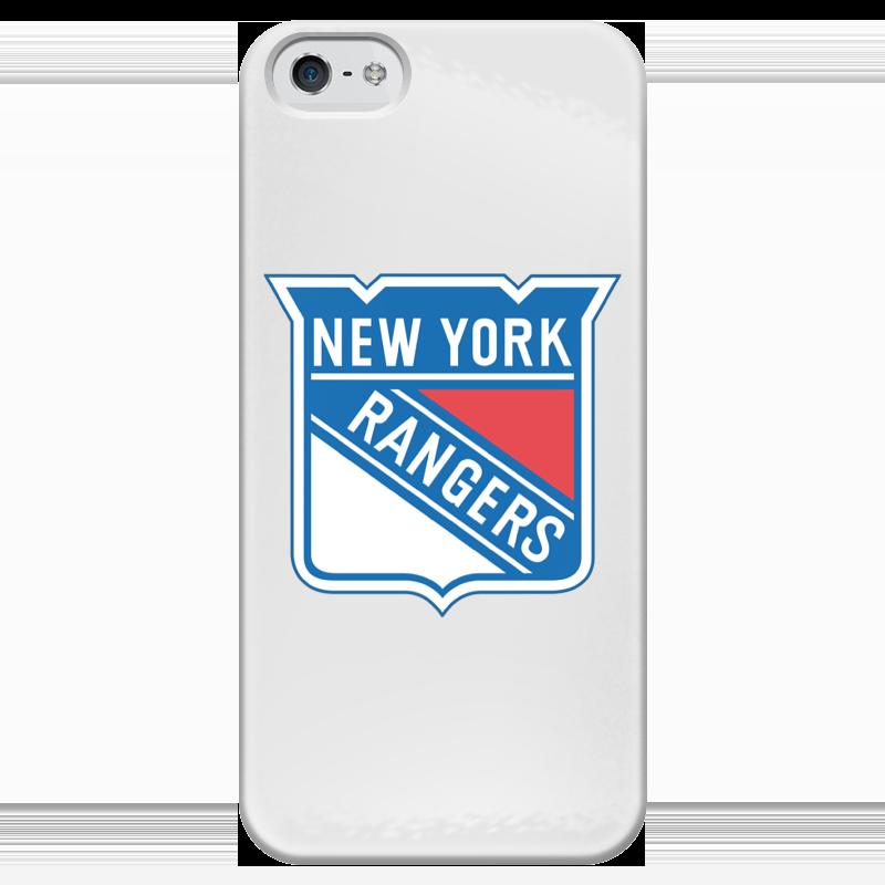 Чехол для iPhone 5 глянцевый, с полной запечаткой Printio New york rangers