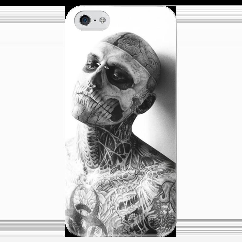Чехол для iPhone 5 глянцевый, с полной запечаткой Printio Zombie boy чехол для iphone 6 глянцевый printio fallout boy