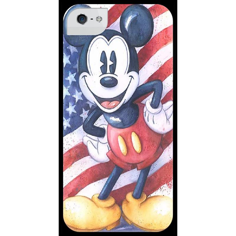 Чехол для iPhone 5 глянцевый, с полной запечаткой Printio Mickey чехол для iphone 5 глянцевый с полной запечаткой printio ember spirit dota 2