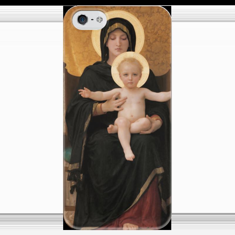 Чехол для iPhone 5 глянцевый, с полной запечаткой Printio Мадонна (картина бугро)