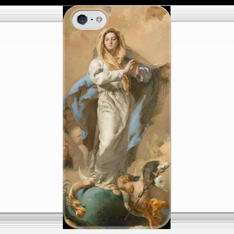 Чехол для iPhone 5 глянцевый, с полной запечаткой Printio Непорочное зачатие девы марии магическая сила девы марии 44 карты инструкция