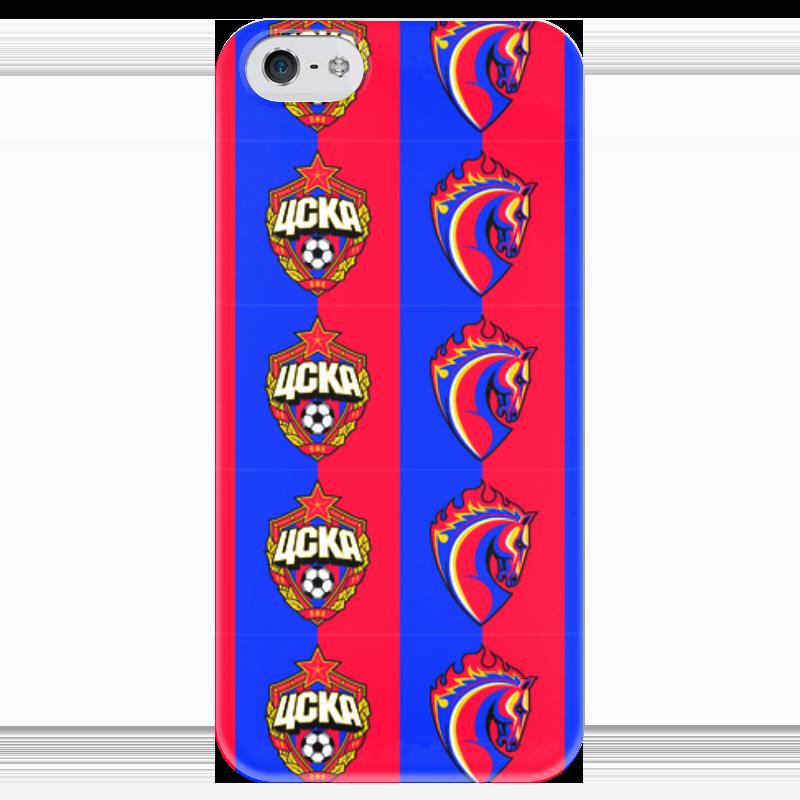 Чехол для iPhone 5 глянцевый, с полной запечаткой Printio Цска пфк чехлы для телефонов пфк цска клип кейс для iphone 6 plus с объемной эмблемой пфк цска цвет черный