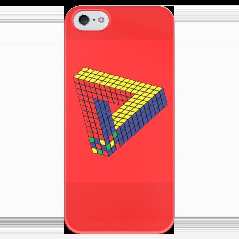 Чехол для iPhone 5 глянцевый, с полной запечаткой Printio Кубик рубика головоломка рубикс кубик рубика пустой kp8620