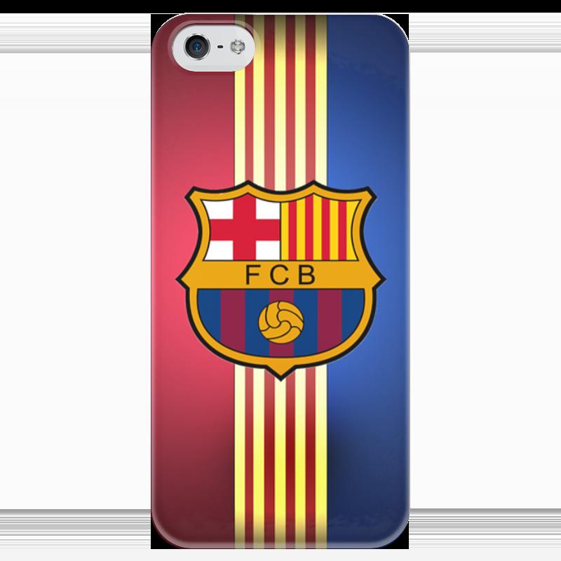 Чехол для iPhone 5 глянцевый, с полной запечаткой Printio Барселона на айфон 5/5s/se купить чехол на айфон 5 s disney