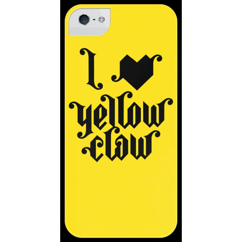 Чехол для iPhone 5 глянцевый, с полной запечаткой Printio I love yellow clow стоимость