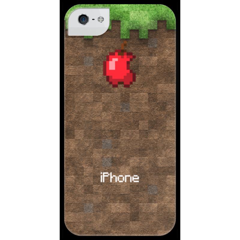 Чехол для iPhone 5 глянцевый, с полной запечаткой Printio Minecraft чехол для iphone 5 printio minecraft чехол