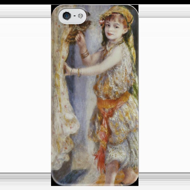 Чехол для iPhone 5 глянцевый, с полной запечаткой Printio Девочка с соколом (пьер огюст ренуар) чехол для samsung galaxy s5 printio буря пьер огюст кот