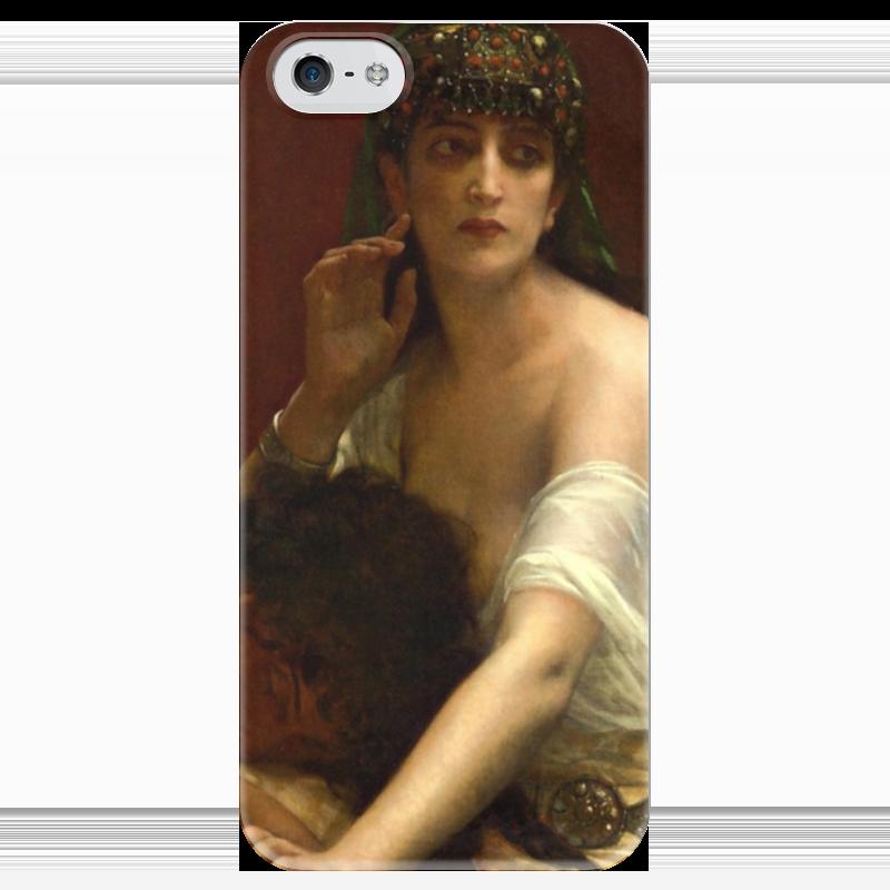 Чехол для iPhone 5 глянцевый, с полной запечаткой Printio Самсон и далила (картина кабанеля) самсон и далила