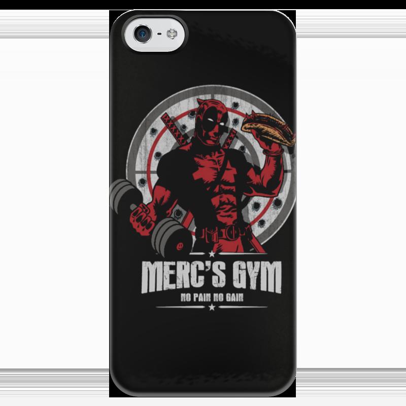 Чехол для iPhone 5 глянцевый, с полной запечаткой Printio Deadpool merc gym чехол для iphone 4 глянцевый с полной запечаткой printio deadpool