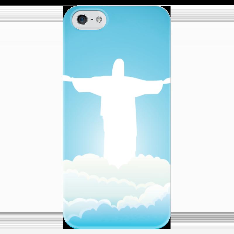 Чехол для iPhone 5 глянцевый, с полной запечаткой Printio Иисус христос вышивка бисером молящийся христос