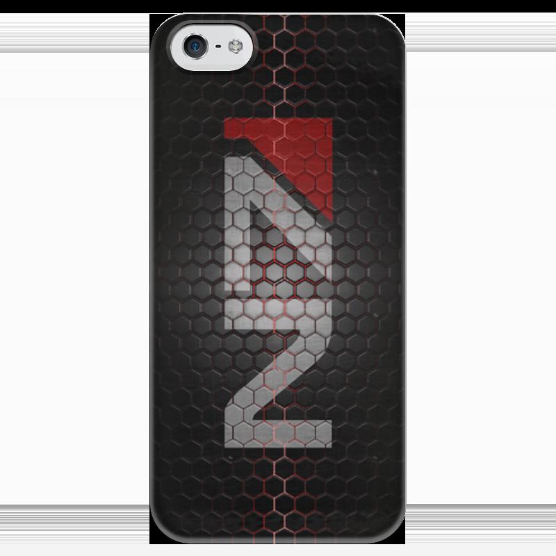 Чехол для iPhone 5 глянцевый, с полной запечаткой Printio N7 (mass effect) плакат a3 29 7x42 printio mass effect