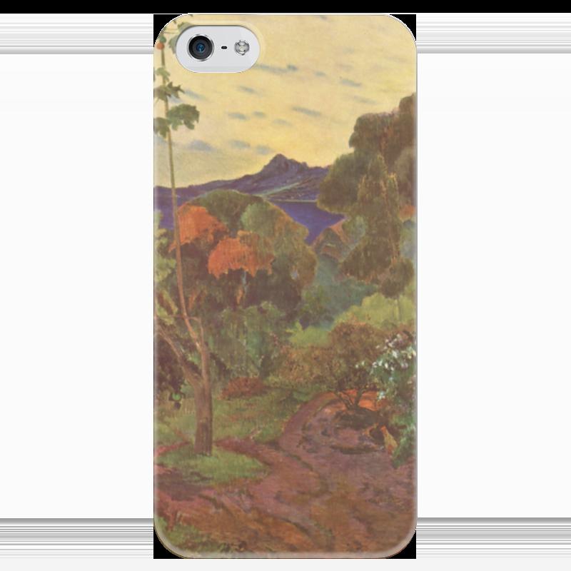 Чехол для iPhone 5 глянцевый, с полной запечаткой Printio Тропические растения