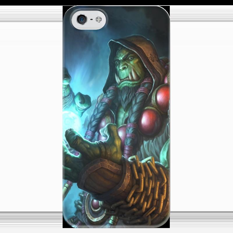 Чехол для iPhone 5 глянцевый, с полной запечаткой Printio Hearthstone: heroes of warcraft heroes