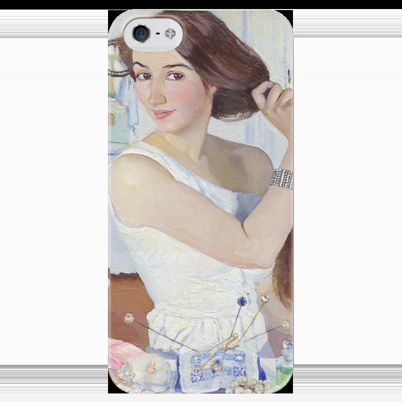 Чехол для iPhone 5 глянцевый, с полной запечаткой Printio За туалетом. автопортрет бытовка спб с туалетом