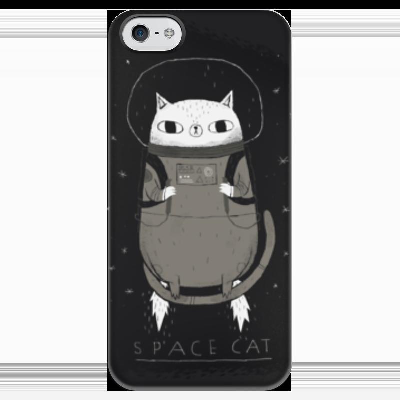 Чехол для iPhone 5 глянцевый, с полной запечаткой Printio Space cat чехол для iphone 4 глянцевый с полной запечаткой printio my space