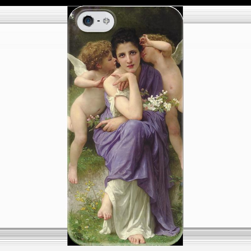 Чехол для iPhone 5 глянцевый, с полной запечаткой Printio Песни весны (chansons de printemps)