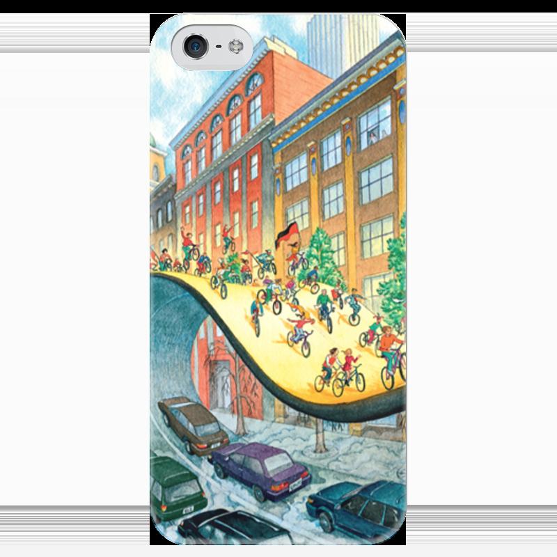 Чехол для iPhone 5 глянцевый, с полной запечаткой Printio Велосипеды вперед! чехол для iphone 4 глянцевый с полной запечаткой printio эфиопка