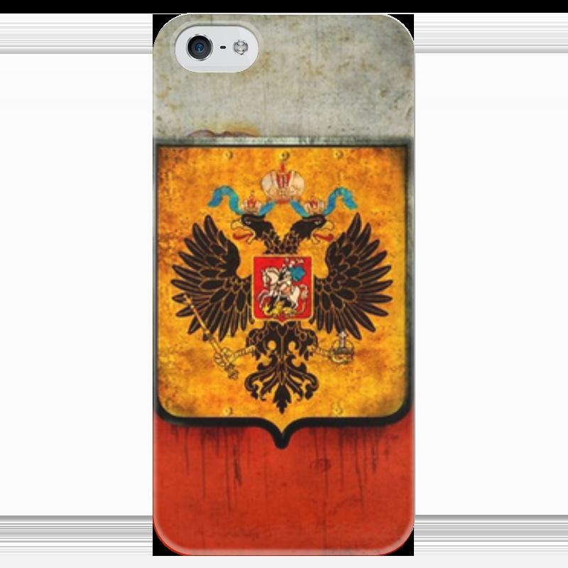 Чехол для iPhone 5 глянцевый, с полной запечаткой Printio Флаг российский чехол для iphone 5 глянцевый с полной запечаткой printio флаг пророка жан леон жером