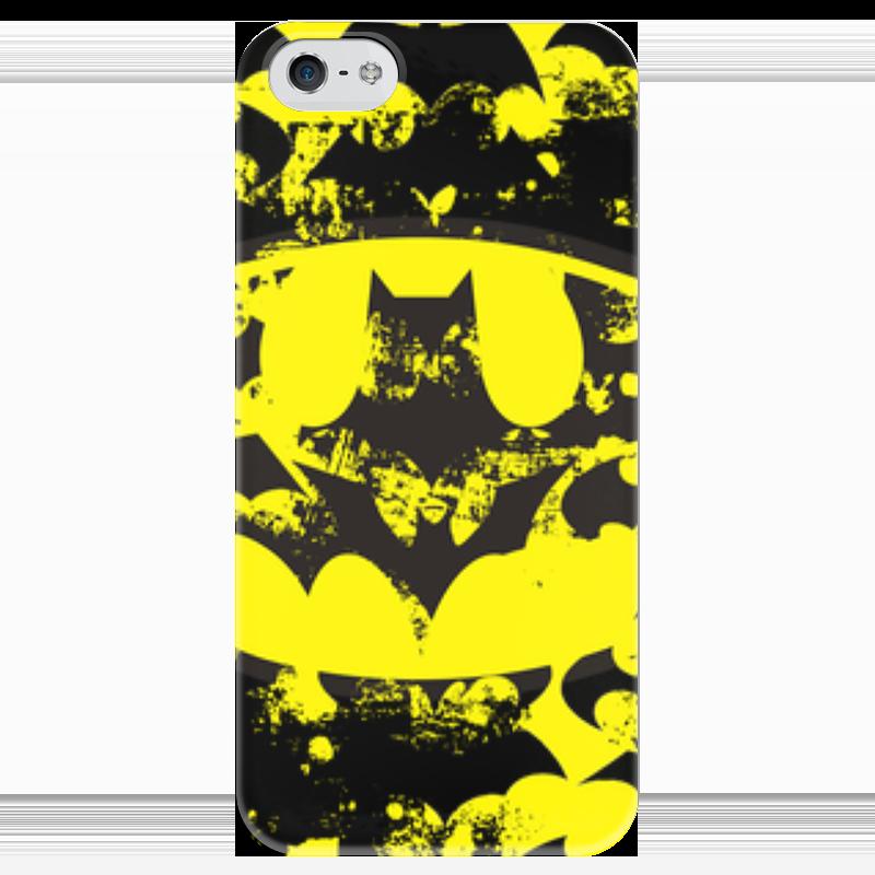 Чехол для iPhone 5 глянцевый, с полной запечаткой Printio Batman чехол для iphone 5 глянцевый с полной запечаткой printio ember spirit dota 2