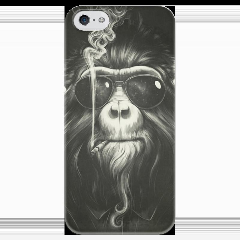 все цены на Чехол для iPhone 5 глянцевый, с полной запечаткой Printio Smoke em if you got em онлайн