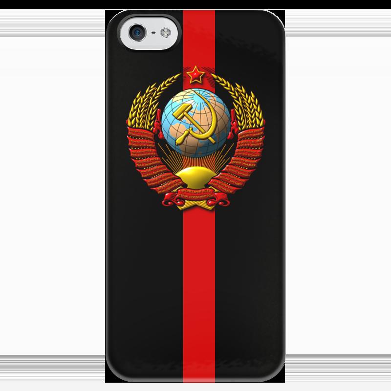 Чехол для iPhone 5 глянцевый, с полной запечаткой Printio Cccp! чехол для iphone 5 глянцевый с полной запечаткой printio паспорт ссср