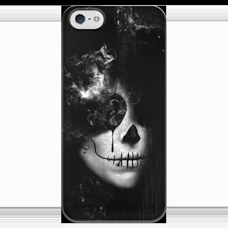Чехол для iPhone 5 глянцевый, с полной запечаткой Printio Монохромный стимпанк