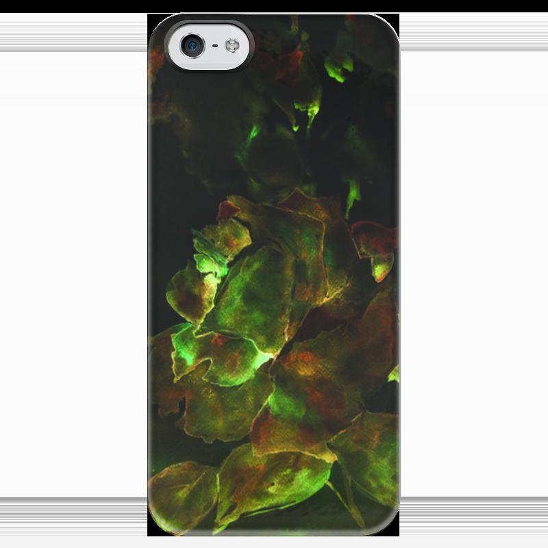 Чехол для iPhone 5 глянцевый, с полной запечаткой Printio Золотая роза чехол для iphone 5 printio чехол с мыслями о любви