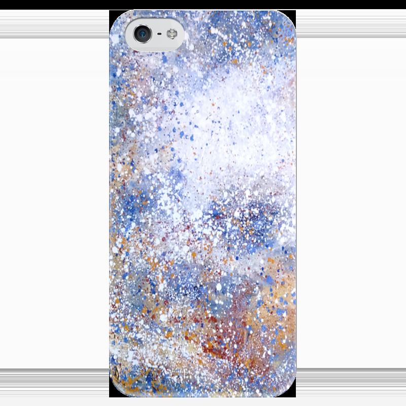 Чехол для iPhone 5 глянцевый, с полной запечаткой Printio Магелланово облако 1