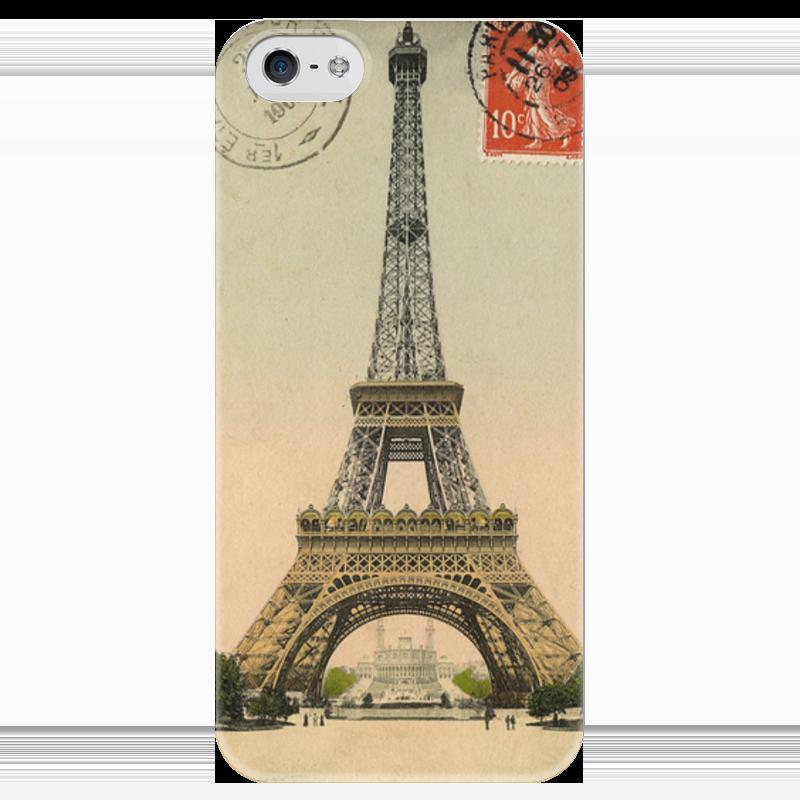 Чехол для iPhone 5 глянцевый, с полной запечаткой Printio The eiffel tower eiffel tower charm bangle