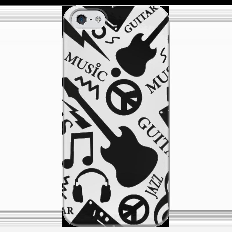 Чехол для iPhone 5 глянцевый, с полной запечаткой Printio Музыка чехол для iphone 4 глянцевый с полной запечаткой printio эфиопка
