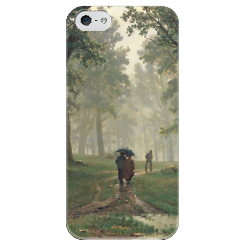 Чехол для iPhone 5 глянцевый, с полной запечаткой Printio Дождь в дубовом лесу (иван шишкин) иван бунин жизнь арсеньева