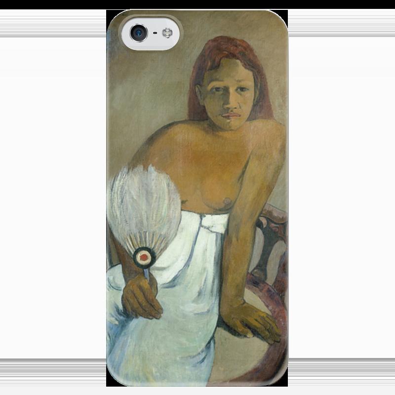 Чехол для iPhone 5 глянцевый, с полной запечаткой Printio Девушка с веером девушка с веслом