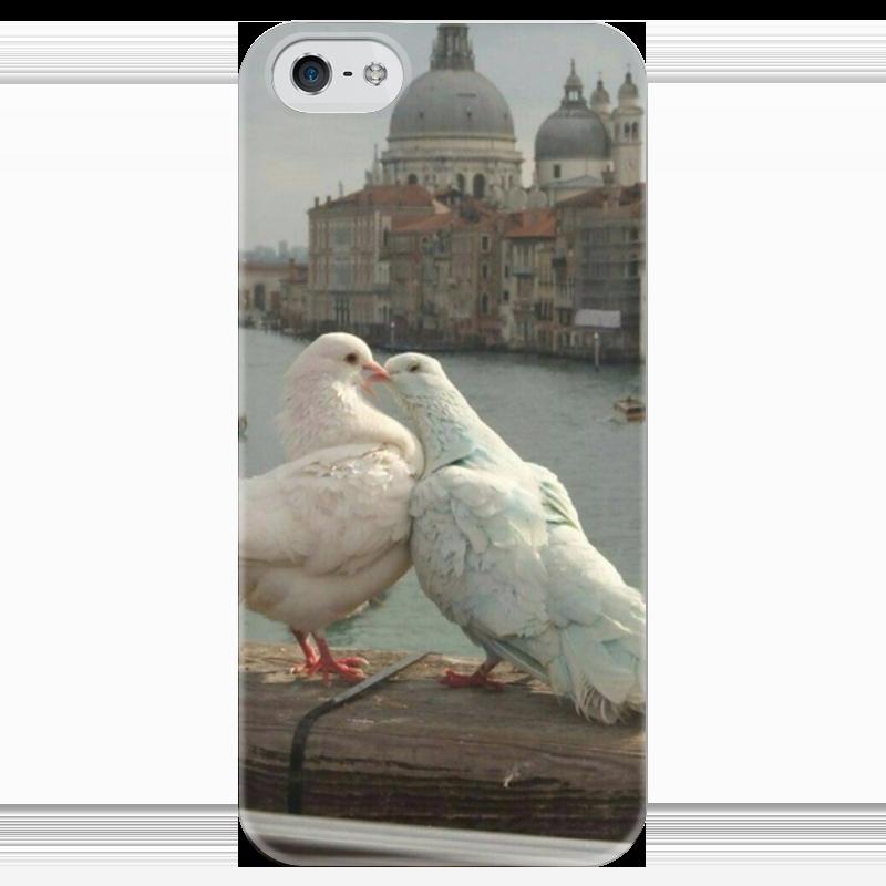 Чехол для iPhone 5 глянцевый, с полной запечаткой Printio Голубки чехол для iphone 5 глянцевый с полной запечаткой printio осенний день сокольники левитан