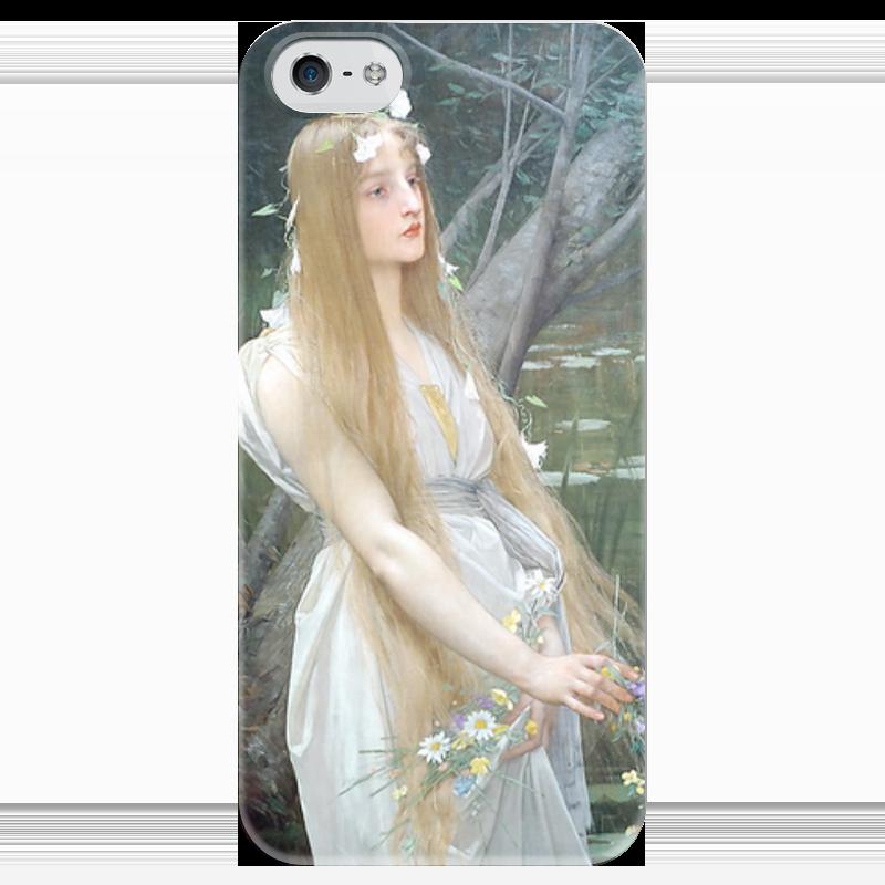 Чехол для iPhone 5 глянцевый, с полной запечаткой Printio Офелия (ophelia) ведьмины круги прощай офелия