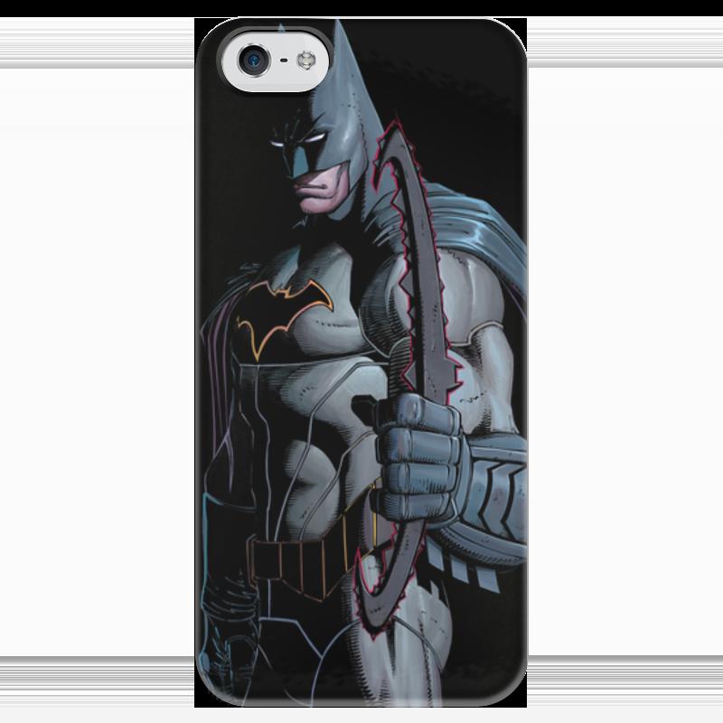 Чехол для iPhone 5 глянцевый, с полной запечаткой Printio Бэтмен чехол для iphone 5 глянцевый с полной запечаткой printio иллид