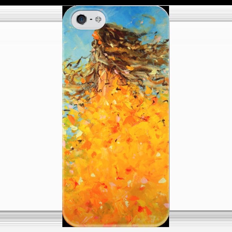 Чехол для iPhone 5 глянцевый, с полной запечаткой Printio Красавица осень чехол для iphone 5 с подставкой с полной запечаткой printio осень