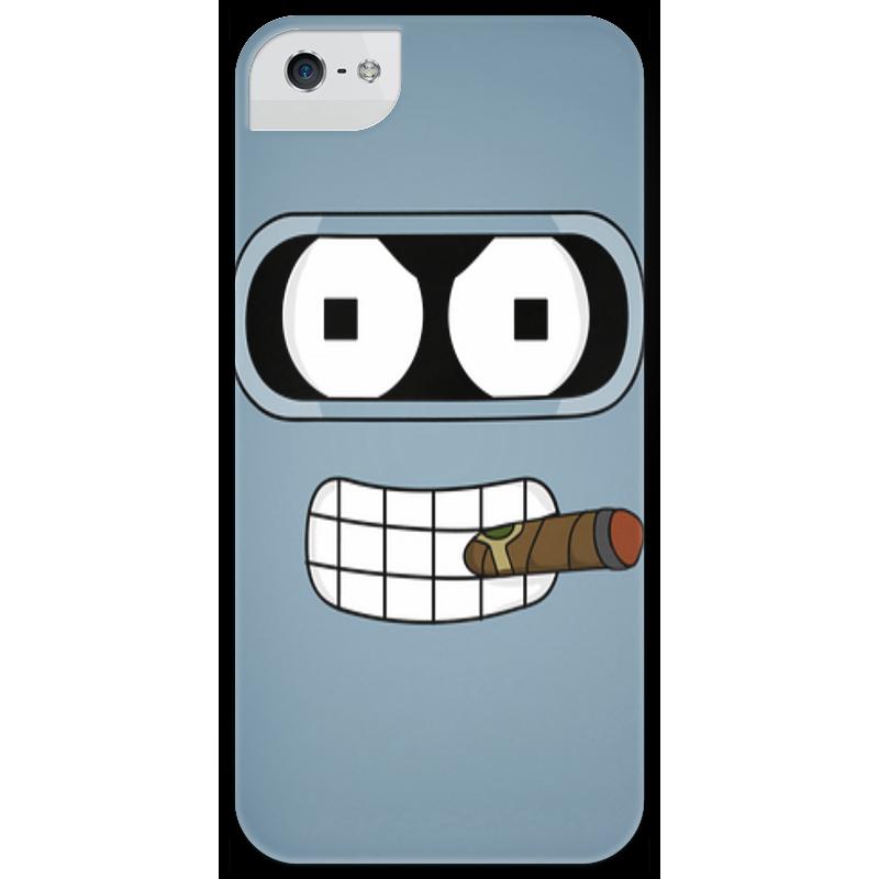 Чехол для iPhone 5 глянцевый, с полной запечаткой Printio Бендер чехол для iphone 5 глянцевый с полной запечаткой printio эфиопка