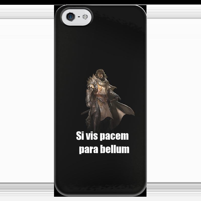 Чехол для iPhone 5 глянцевый, с полной запечаткой Printio Хочешь мира - готовься к войне чехол для samsung galaxy note 2 printio хочешь мира готовься к войне